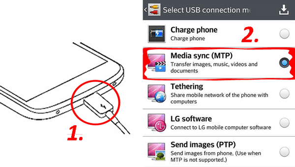 how to transfer photos from lg phone to computer with a usb cable