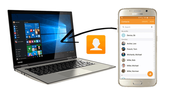 how to transfer contacts from samsung to pc