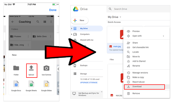 oppo file transfer via google drive