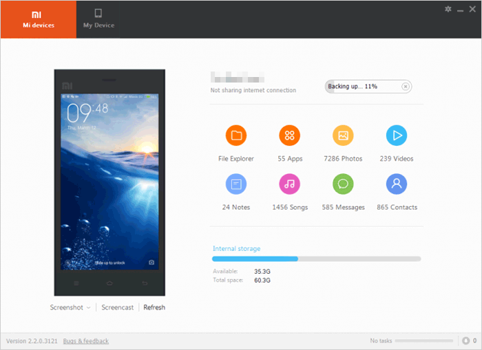 how to use mi pc suite