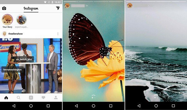 upload multiple gallery images to instagram story