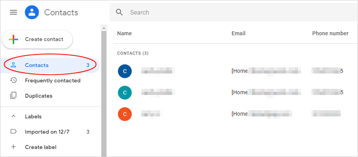 access google contacts