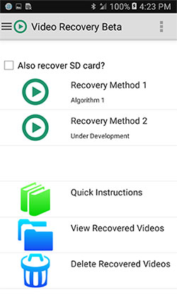 android video recovery app like video recovery