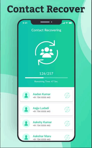 recover all deleted contact and sync