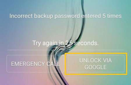 unlock samsung via google account