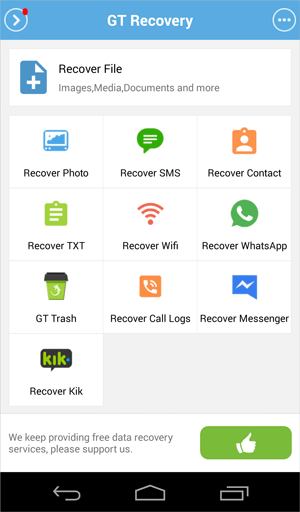 retireve deleted texts on android without backup using gt recovery app