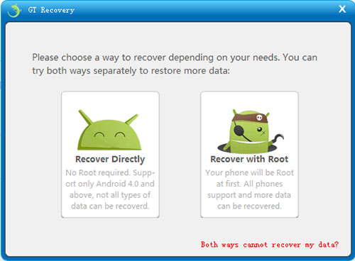 recover deleted files from android without root - gt recovery