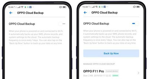restore from oppo cloud backup