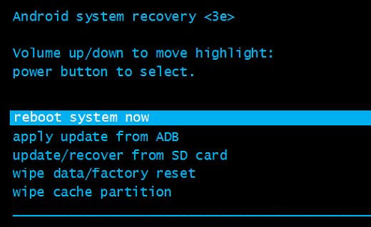reboot system on samsung