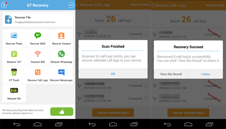 Top 2 Ways to Recover Deleted Call Logs on Android in 2019