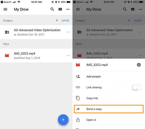 samsung video recovery with google drive