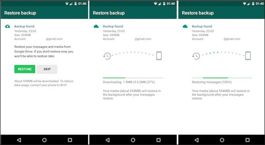how to recover deleted whatsapp messages on android from google drive