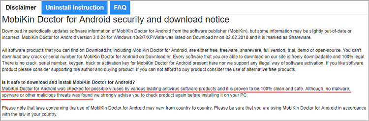 a security statement from download.hr