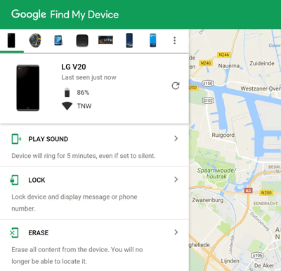remotely unlock your android phone with google find my device