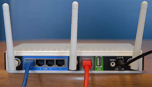 replug in the router