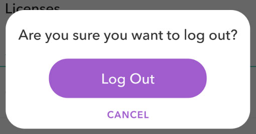 log out of snapchat