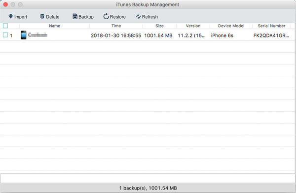manage itunes backups