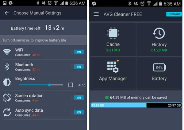 clean android junk files with avg cleaner