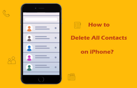 how to delete all contacts on iphone