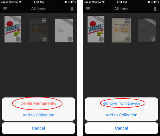 Multiple Ways to Delete Kindle Books on iPhone