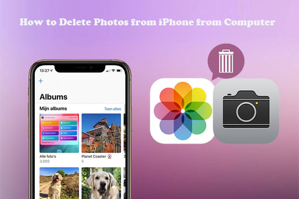 how to delete photos from iPhone from computer