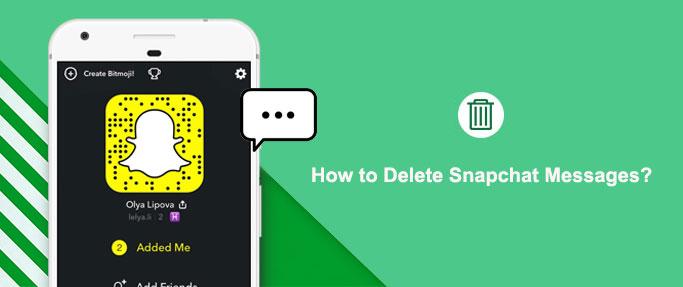 delete snapchat messages