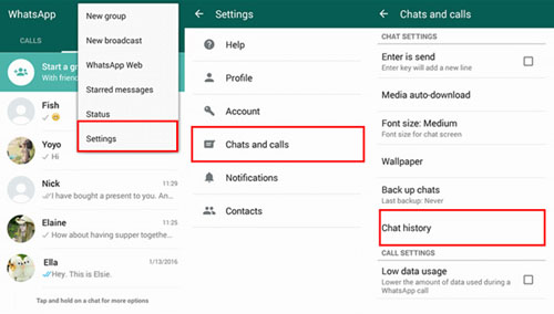 How to Delete WhatsApp Chat History on Android/Samsung
