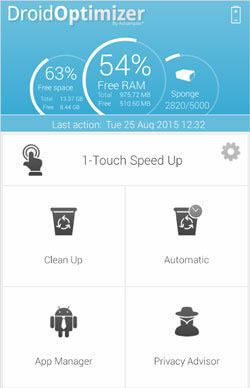 cleaning app for android phone - droid optimizer