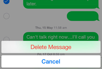 erase iphone text messages