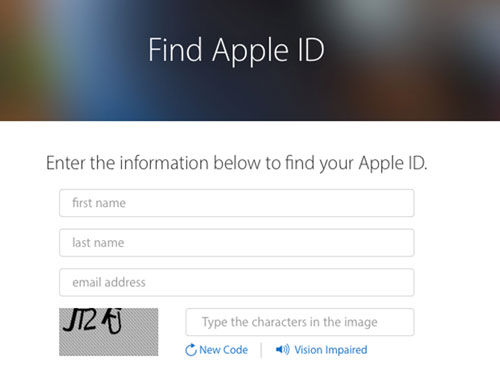 find apple id