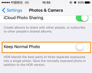 save hdr photos only