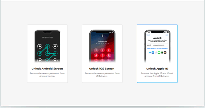 choose the unlock apple id section