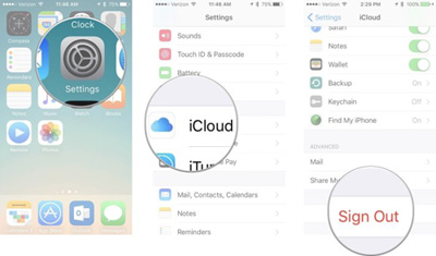 remove apple id on iphone ipad