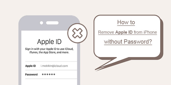 remove apple id from iphone without password