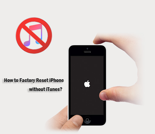 how to reset iphone without itunes