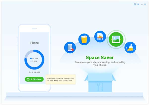 choose space saver option to compress ipod photos