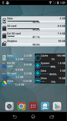 android space manager like storage widget