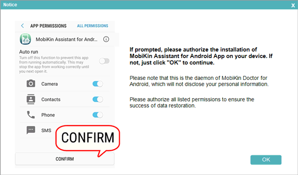 give permissions to install the app on your android phone