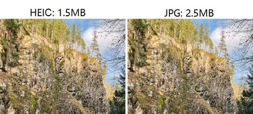 heic vs jpeg file size