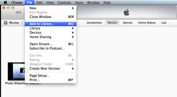 send video from mac to ipad with itunes