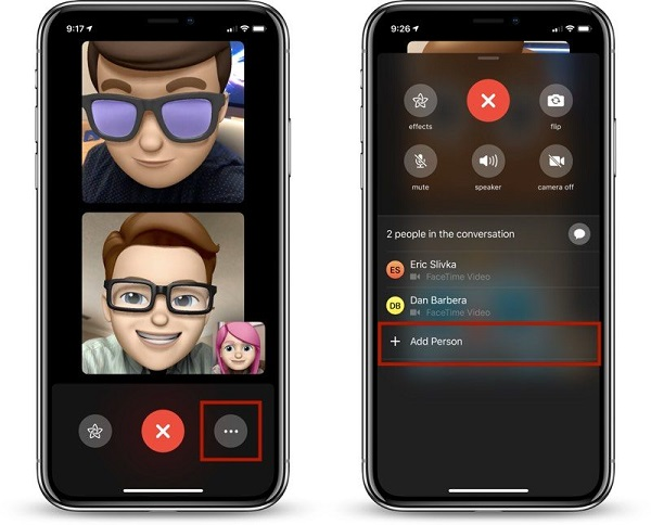add person to facetime group call