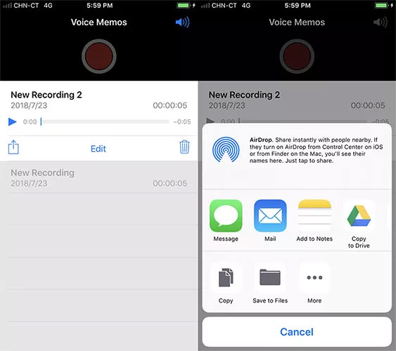 how to transfer voice memos from iphone to mac without itunes