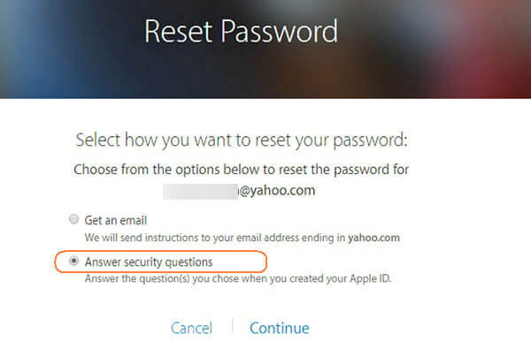 how to log out of icloud without password by answering security questions