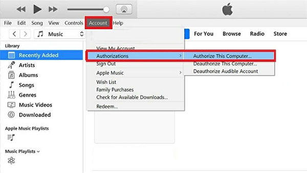 authorize pc to fix iphone photos not showing up on pc