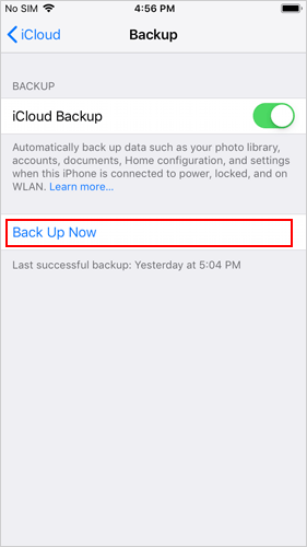 How to Backup iPhone to iCloud - 4