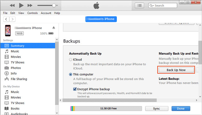 back up iphone to external hard drive