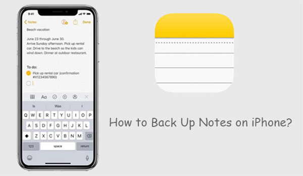 how to backup notes on iphone