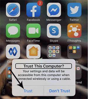 back up iphone when screen is broken using bluetooth keyboard
