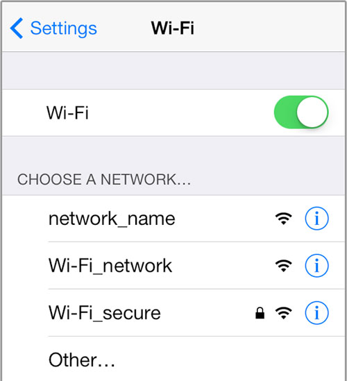 how to check the name of wifi on iphone