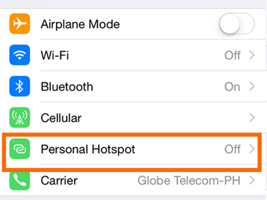 turn off personal hotspot